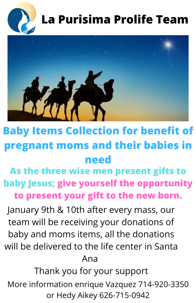 Baby Items Collection for Benefit of Pregnant Moms and Their Babies in Need